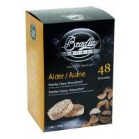 Albriketter för Bradley Smoker - rökbriketter av al. 48-pack